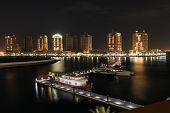 Porto Arabia At Night. Doha