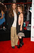 Dedee Pfeiffer and guest at the Los Angeles premiere of