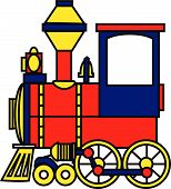 Toy Train Color Vector