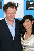 John C. Reilly and Alison Dickey at the 2007 Film Independent's Spirit Awards. Santa Monica Pier, Sa