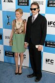Michelle Williams and Heath Ledger at the 2007 Film Independent's Spirit Awards. Santa Monica Pier,