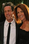 Brian Grazer and wife Gigi at the 2007 Vanity Fair Oscar Party. Mortons, West Hollywood, CA. 02-25-07