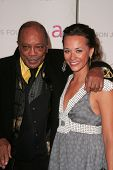 Quincy Jones and Rashida Jones At the 2007 Elton John Aids Foundation Oscar Party, Pacific Design Center, West Hollywood, CA 02-25-07