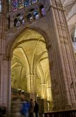 Lateral Nave Of Santa Maria De Leon Cathedral In Leon. Spain