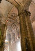 Principal Dome, Altar And Altarpiece Of Real Basílica De San Isidoro. Leon. Spain