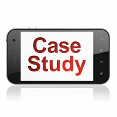 Education concept: Case Study on smartphone