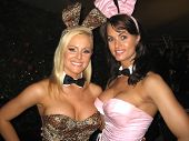 Katie Lohmann and Karen McDougal at the Milwaukee's Best Party, Playboy Mansion, Beverly Hills, CA 0
