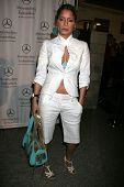 Blu Cantrell at day one of the 2007 Mercedes-Benz Fashion Week Fall Collection. Smashbox Studios, Culver City, CA. 03-18-07