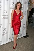 Melora Hardin at day one of the 2007 Mercedes-Benz Fashion Week Fall Collection. Smashbox Studios, C