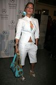 Blu Cantrell at day one of the 2007 Mercedes-Benz Fashion Week Fall Collection. Smashbox Studios, Cu