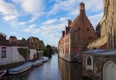 canal street of old town, Bruges