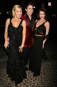 Schae Harrison with Mick Cain and Hunter Tylo at the celebration for