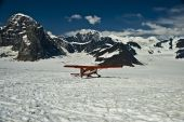 Ski Plane On Mountain