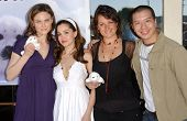 Emily Deschanel and Gina Phillips with Darcy Halsey and Reggie Lee at the Los Angeles event for