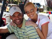 Amaury Nolasco and Katie Lohmann at the 7th Annual Playboy Golf Scramble Championship Finals. Lost C