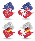 Speech Bubbles Foreign Languages