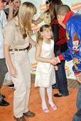 Terri Irwin with Bindi Irwin and Chris Brown at Nickelodeon's 20th Annual Kids' Choice Awards. Paule