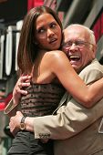 Halle Berry and Johnny Grant at the ceremony honoring Halle Berry with the 2,333rd star on the Holly