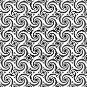 Monochrome Decorative Helix Pattern