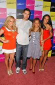 Drew Seeley and the Cheetah Girls at the launch of T-Mobile Sidekick ID, T-Mobile Sidekick Lot, Holl