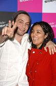Jonathan Sadowski and friend at the launch of T-Mobile Sidekick ID, T-Mobile Sidekick Lot, Hollywood
