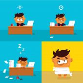 Illustration of the office worker