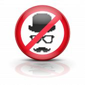 foto of spyware  - Anti spyware icon symbol illustration - JPG