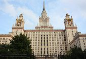 Moscow - September 13: Facade of the Moscow State University
