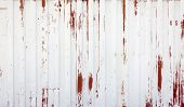 Rustic White And Red Metal Background