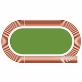 image of olympic-games  - Vector illustration of a green Olympic stadium - JPG