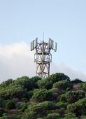 Cellular Tower On The Top Of Mountain.