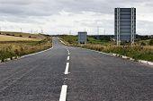 Empty road or highway