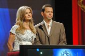 Kyra Sedgwick and Jon Cryer at the 59th Primetime Emmy Awards Nominations Announcements. Leonard Goldstein Theater, Los Angeles, CA. 07-19-07