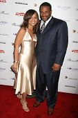 Jerome Bettis and wife Trameka at the DESIGNCARE 2007 Fundraiser to benefit those battling debilitat