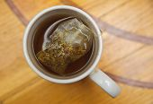Healthy Restorative Drink. Teabag In A Cup Of Tea