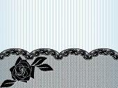 Black French lace background