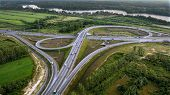 Aerial View Of Overpass, Ringway, Aerial Photo