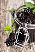 Blackberry Jam With Fresh Fruits