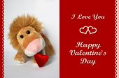 Valentine Lion Toy