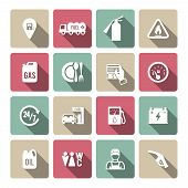 Set of auto gasoline service icon