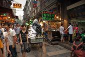 Lively Muslim street in Xian