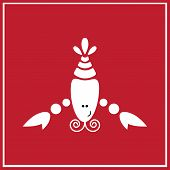 picture of cancer horoscope icon  - Illustration of zodiac sign Cancer on the red background - JPG