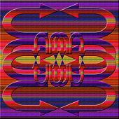 Graphic Composition With  Violet Illumination On Color Background.