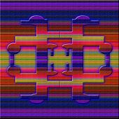 Graphic Composition With Brigh Violet Illumination.