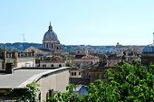 View Of Rome City From Spanish Steps.