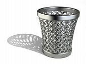 Steel Wastepaper Basket Empty