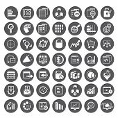 big data icons, data management buttons
