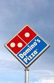 Domino's Restaurant Sign