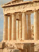 image of parthenon  - Acropolis Parthenon greek temple Athens Greece detail - JPG