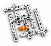 SEO search engine optimization (orange-white crossword puzzles series)